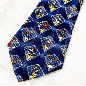 Disney Mickey Mouse Donald Duck Goofy Sports Tie